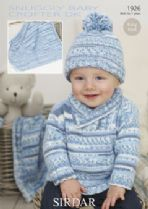 Sirdar Snuggly Baby Crofter DK - 1926 Sweater, Hat & Blanket Knitting Pattern